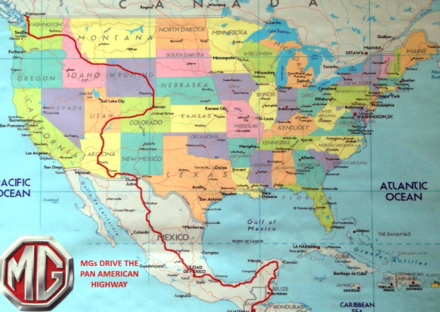 Route Map MG Pan American Highway - Highway map usa